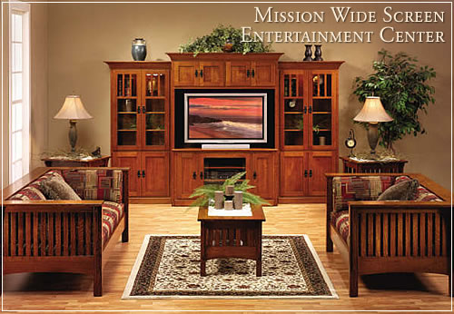 Mission Wide Screen Entertainment Center